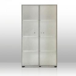 Mobile Medio Ante Vetro Alluminio 3 piani + Top