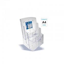 Portadepliant A4 3 scomparti