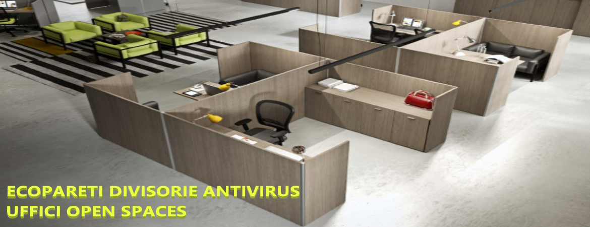 Ecopareti divisorie antivirus uffici open spaces